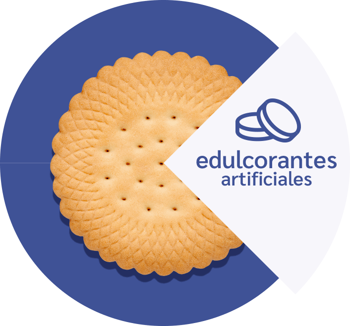Galletas con edulcorantes artificiales